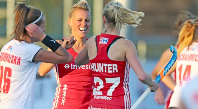 England women defeat Poland 3-0 in first game of Hockey World League in Johannesburg #HWL2017
