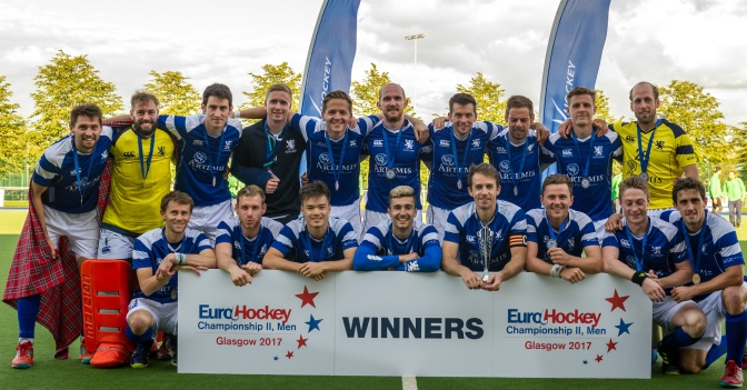 Scotland win Men's EuroHockey Championship II in Glasgow Wales 1-2 Scotland