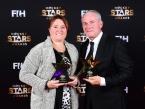 BERLIJN - FIH Hockey Stars Awards Foto: Best Coach Alyson Annan and Shane McLeod WORLDSPORTPICS COPYRIGHT FRANK UIJLENBROEK