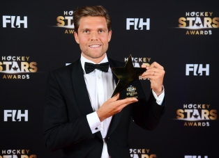 BERLIJN - FIH Hockey Stars Awards Foto: Male Goalkeeper of the Year Vincent Vanasch WORLDSPORTPICS COPYRIGHT FRANK UIJLENBROEK