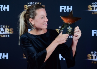 BERLIJN - FIH Hockey Stars Awards Foto: Female Player of the Year Delfina Merino WORLDSPORTPICS COPYRIGHT FRANK UIJLENBROEK