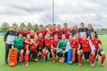 11 August 2017 at the National Hockey Centre, Glasgow Green. EuroHockey Championship II 2017 Men - Semi Final 1 Wales v France
