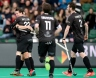 ROTTERDAM - Euro Hockey Leaque KO16 03 Royal Racing Club de Bruxelles - Dinamo Kazan foto: Tommy Willems scored and celebrates. FFU PRESS AGENCY COPYRIGHT FRANK UIJLENBROEK