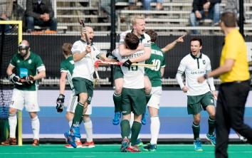 ROTTERDAM - Euro Hockey Leaque KO16 QF4 THC Uhlenhorst Mülheim - HC Rotterdam foto: Tjep Hoedemakers scored the 2-1. WORLDSPORTPICS COPYRIGHT FRANK UIJLENBROEK