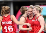 Gold Coast 2018 Commonwealth Games Hockey Centre 5/4/18 Day 1 England v Sth Africa Women Susannah Townsend Photo: Grant Treeby