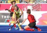 Gold Coast 2018 Commonwealth Games Hockey Centre 5/4/18 Stephanie Kershaw Day 1 Australia v Canada Women Photo: Grant Treeby