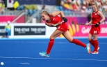 Gold Coast 2018 Commonwealth Games Hockey Centre 5/4/18 Day 1 England v Sth Africa Women Emily Defroand Photo: Grant Treeby