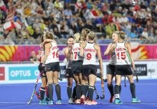 Gold Coast 2018 Commonwealth Games Hockey Centre 6/4/18 Day 2 England v Wales Women Photo: Grant Treeby