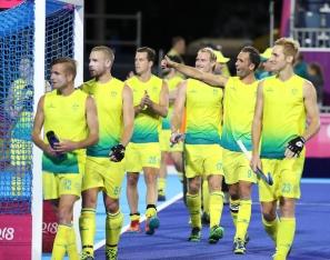 Gold Coast 2018 Commonwealth Games Hockey Centre 7/4/18 Day 3 Australia v Sth Africa Men Photo: Grant Treeby