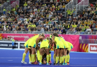 Gold Coast 2018 Commonwealth Games Hockey Centre 7/4/18 Day 3 Australia v Ghana Women Photo: Grant Treeby