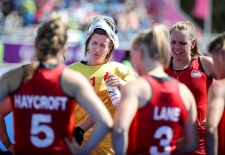 Gold Coast 2018 Commonwealth Games Hockey Centre 8/4/18 Day 4 England v India Women Maddie Hinch Photo: Grant Treeby