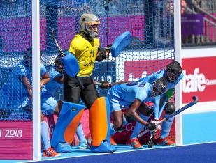 Gold Coast 2018 Commonwealth Games Hockey Centre 8/4/18 Day 4 England v India Women Photo: Grant Treeby