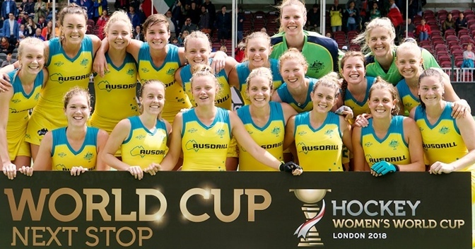 The 18-member team for next month's Women's Hockey World Cup was today announced by Hockey Australia.