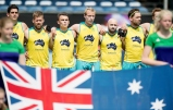 BREDA - Rabobank Hockey Champions Trophy India - Australia Photo: Australian line up. COPYRIGHT WORLDSPORTPICS FRANK UIJLENBROEK
