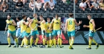 BREDA - Rabobank Hockey Champions Trophy India - Australia Photo: Australia celebrate COPYRIGHT WORLDSPORTPICS FRANK UIJLENBROEK