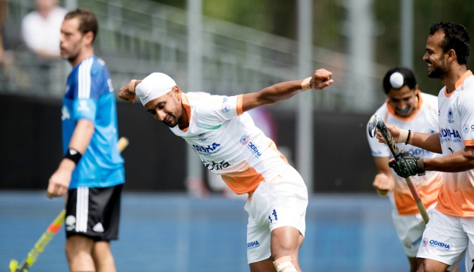 India finish Day 2 at top of the table at Men's Rabobank Hockey Champions Trophy 2018