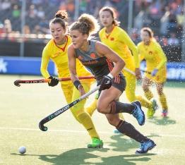 BREDA - Maria Verschoor (Ned) tijdens Nederland-China (7-0) bij de 4 Nations Trophy dames 2018 . COPYRIGHT KOEN SUYK
