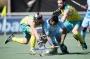 BREDA - Rabobank Hockey Champions Trophy Final Australia - India Photo: Manpreet Singh. Matthew Swann and Trent Mitton. COPYRIGHT WORLDSPORTPICS FRANK UIJLENBROEK