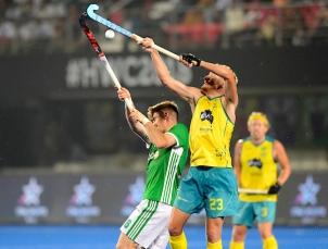BHUBANESWAR Odisha Hockey Men's World Cup Australia v Ireland (Pool B) Foto: Daniel Beale WORLDSPORTPICS COPYRIGHT FRANK UIJLENBROEK