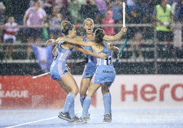 Argentina women edge past Germany; men's match cancelled due to inclement weather