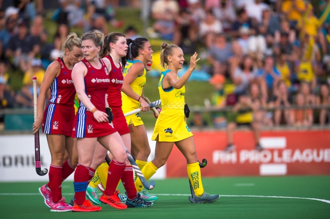 Kookaburras and Hockeyroos victorious over Great Britain in Perth