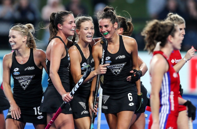 Mixed day for New Zealand's Black Sticks against visitors Great Britain in Christchurch