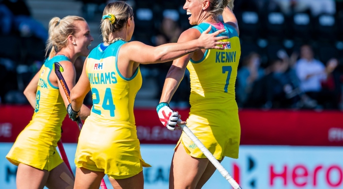 HOCKEYROOS HOLD NERVE IN SHOOTOUT TO REACH GRAND FINAL