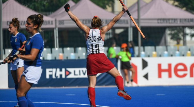 Canada score super seven and Spain defeat South Africa in tight contest during a day of exciting semi-final action at the FIH Series Final