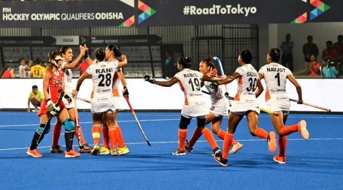 First leg victories for India's men and women in FIH Hockey Olympic qualifiers