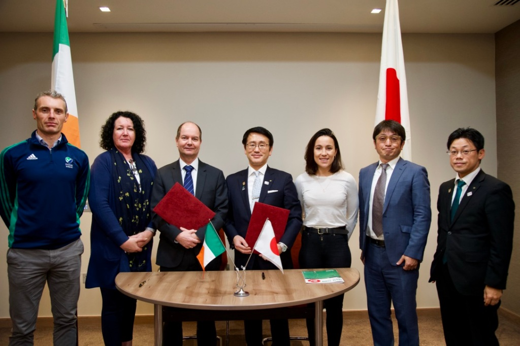 image hockey ireland signs mou with iwate delegates for pre games holding camp 1