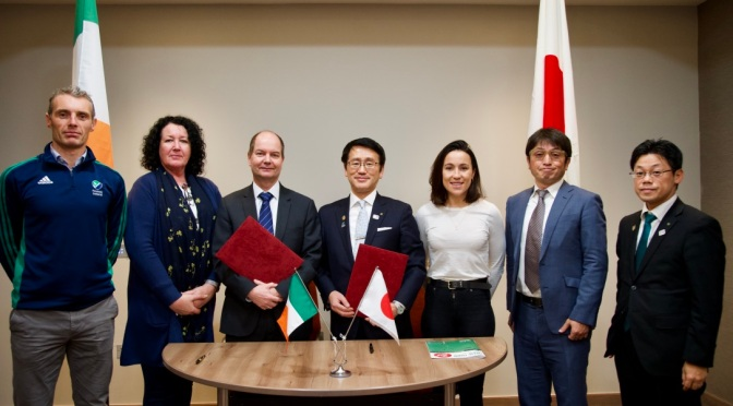 Hockey Ireland Signs MOU with Iwate Delegates for Pre-Games Holding Camp